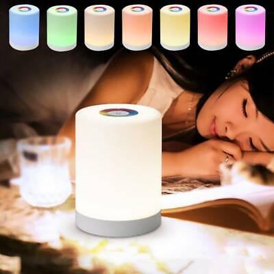 Schreibtischlampe Dimmbar LED RGB Touch Tischlampe Leseleuchte Nachttischlampe