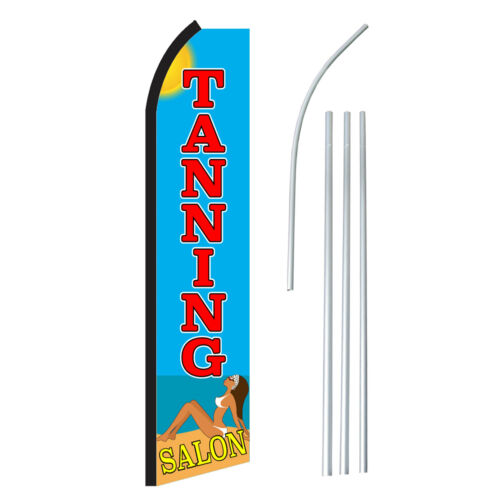 Advertising Sign Swooper Feather Banner Flag /& Pole Only TANNING SALON BEACH