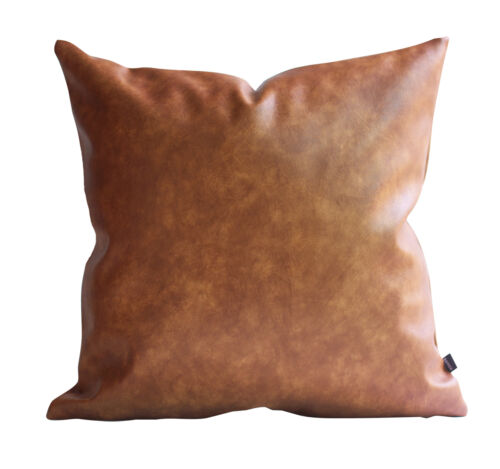 Kdays Faux Leather Tan Brown Pillow Cover Decorative Throw Pillows Tan Leather