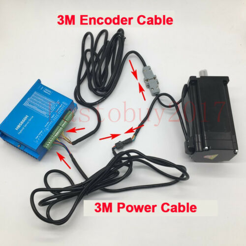 4.5NM Nema34 3Axis Closed Loop Stepper Motor Drive /&CNC Controller /&Power Supply