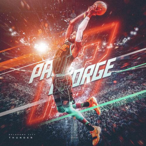Paul George Poster NBA Oklahoma City Thunder artwork Paul George Canvas Print