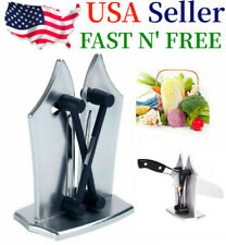 Kitchen Knife Sharpener Edge Sharpens Hones Standard Blade Polishes US