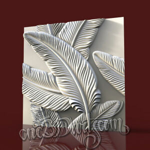3D-Model-STL-CNC-Router-Artcam-Aspire-Wall-Panel-Flowered-Decor-Cut3D-Vcarve