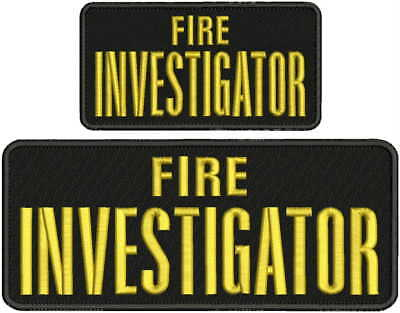 Fire INVESTIGATOR embroidery patches 3x6 hook silver letters