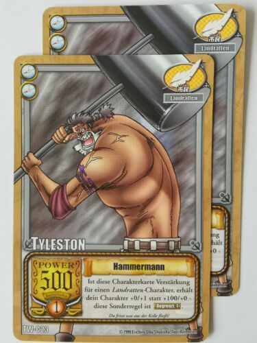 2x One Piece TCG Card tyleston Hammer Man TW-C23 Trading Card Game