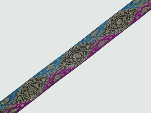 """02/"""" wide By The Yard Jacquard Trim Woven Border Sew Ribbon T674 5.08 Cm"""