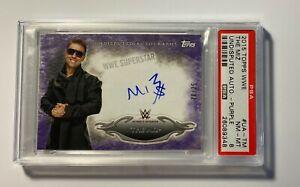 The-Miz-2015-Topps-WWE-Undisputed-Autograph-Purple-Card-UA-TM-PSA-8-NM-MT-Auto