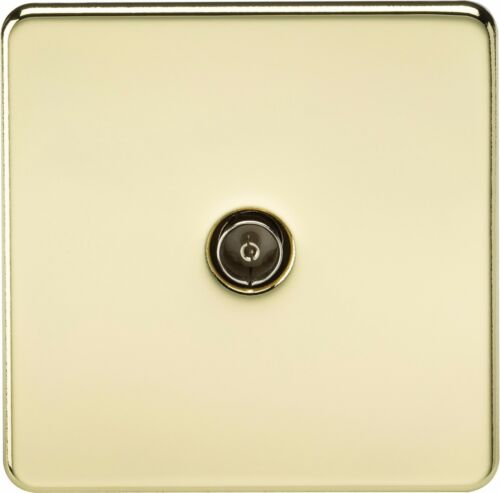 Knightsbridge Screwless 1G 1 Gang TV Outlet Socket Non Isolated Coaxial Co-Axial