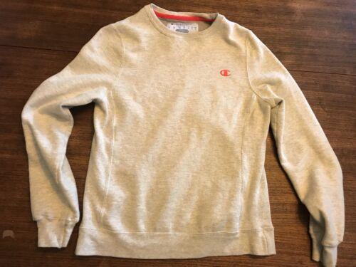 Champion sweatshirt  Gray Orange Logo Small Gusset