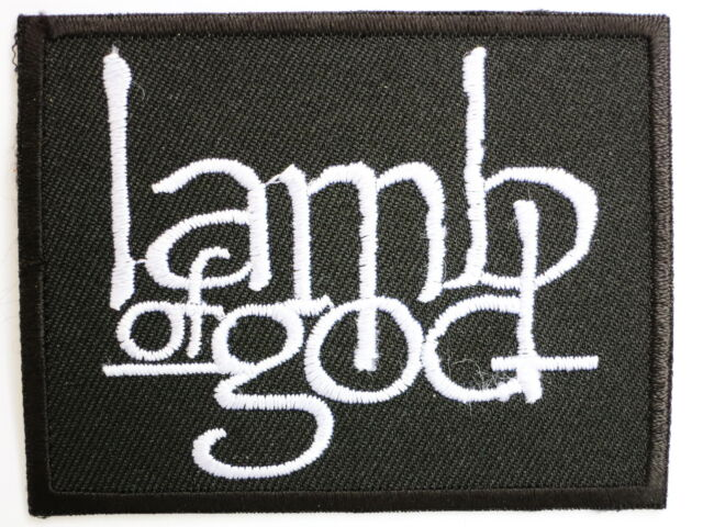 LAMB OF GOD Logo Iron On Sew On Metal Band Embroidered Patch FREE SHIPPING