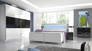 Schön Das Bild Wird Geladen Hochglanz Schlafzimmer Set RivaLed Boxspringbett  Mit LED Schrank