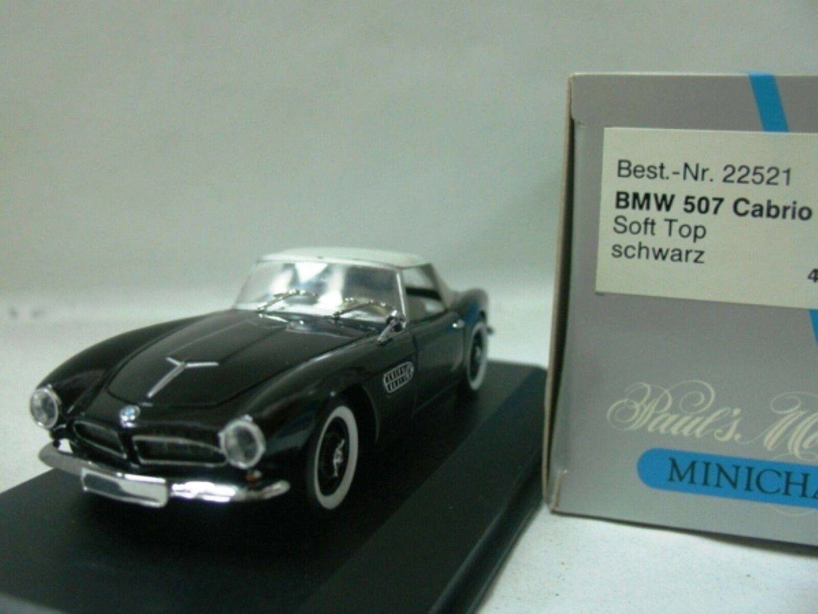 Wow extremadonnate raro BMW 507 3.2 V8 1956 nero biancao Suave Superior 1 43 Minichamps - 2002