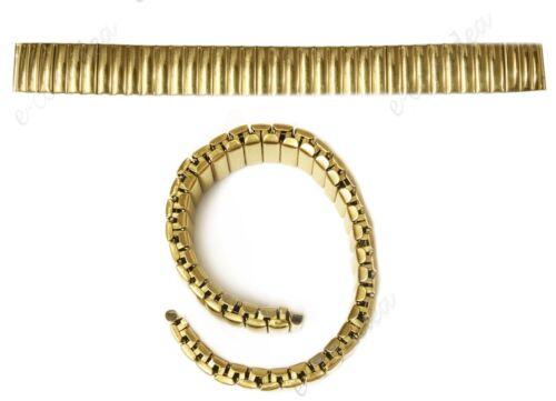 xx Cinturino Elastico Metallo Universale Ricambio Orologio Largo 18mm Oro lac