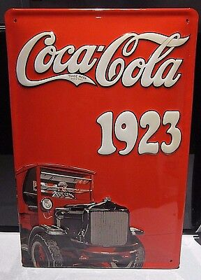COCA COLA// COKE YELLOW: EMBOSSED 30x20cm// 12x8 INCHES BAR//DINER 3D METAL SIGN