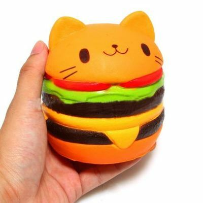 Squishy Cat Hamburger Food Squishys Cake Stress Relief toys Scented Squeeze C5S5