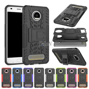 huge selection of 044a3 ed04f Details about For Motorola Moto Z2 Play Case Rugged Armor Shockproof  Kickstand Phone Cover
