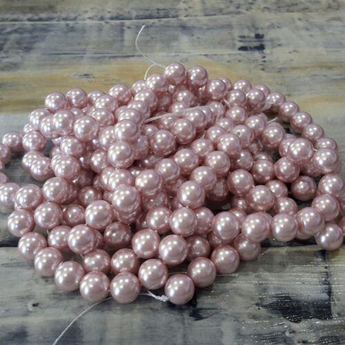 Shell Pearl Bead 8mm Plum Colour Enhanced 46pce Strand Free Postage Oz Seller