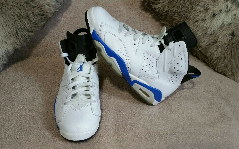 nike air jordan 6 xi 384664 sport, blau - weiße 384664 xi 107 sz - 9. 015466