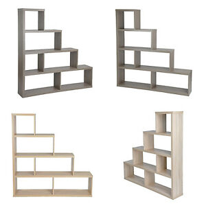 Stair Wooden Cube Book Shelves Bookcae Unit Cd Vcd Storage