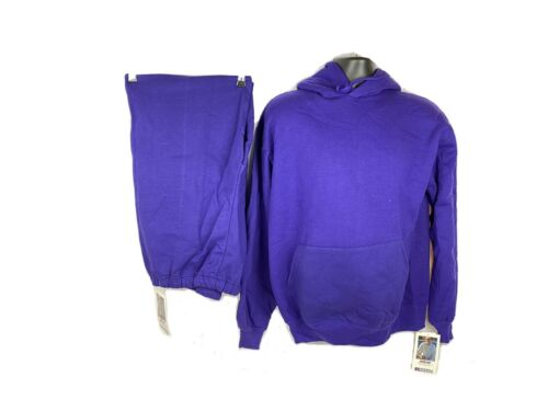 Vintage Sweat Outfit Hoodie Sweatpants Purple NWT