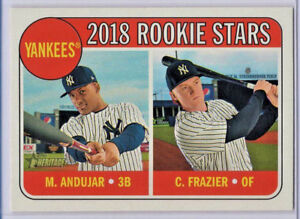 Clint-Frazier-Miguel-Andujar-2018-Topps-Heritage-114-RC-Yankees