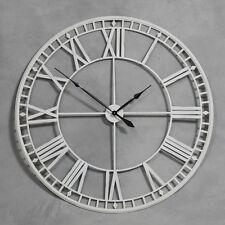 Reloj de pared extra Grande Antiguo Crema Esqueleto de metal 120cm con aspecto envejecido