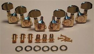 Guitar-Parts-WILKINSON-EZ-E-Z-LOK-3-Per-Side-3x3-TUNERS-SET-GOLD