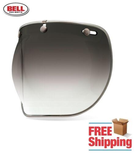 BELL CUSTOM 500 R//T SHORTY SMOKE GRADIENT DELUXE BUBBLE FACE SHIELD VISOR 3-SNAP