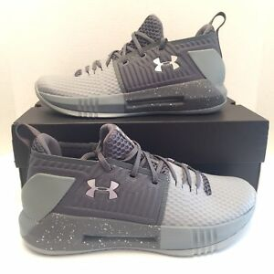 a14a9606aa5 New Under Armour UA Drive 4 Low Basketball Shoes Gray Size 10 Mens ...