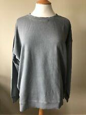 Hush Mio side split Sweat Top Sweatshirt  XS-XL Grey oversized Organic cotton