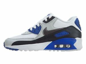 Details about Boys' Nike Air Max 90 Leather (GS) Shoe 833412 404 OBSIDIANMTLC DARK GREY PURE