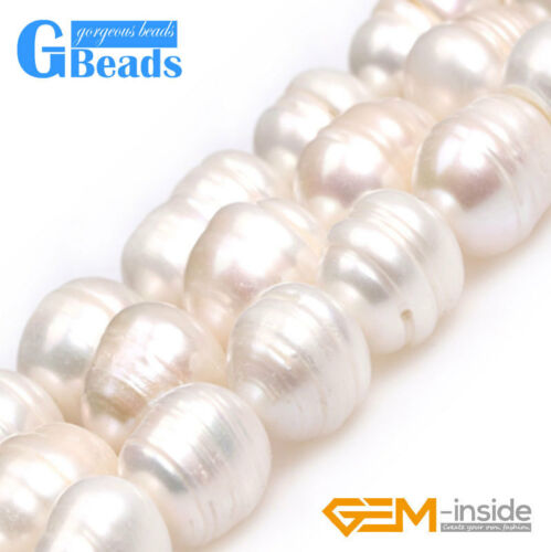 "Natural Freshwater Pearl Gemstone Freeform Potato Beads For Jewelry Making 15/"""