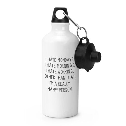 Je déteste les lundis matins Sports bouteille d'eau de boissons drôle et