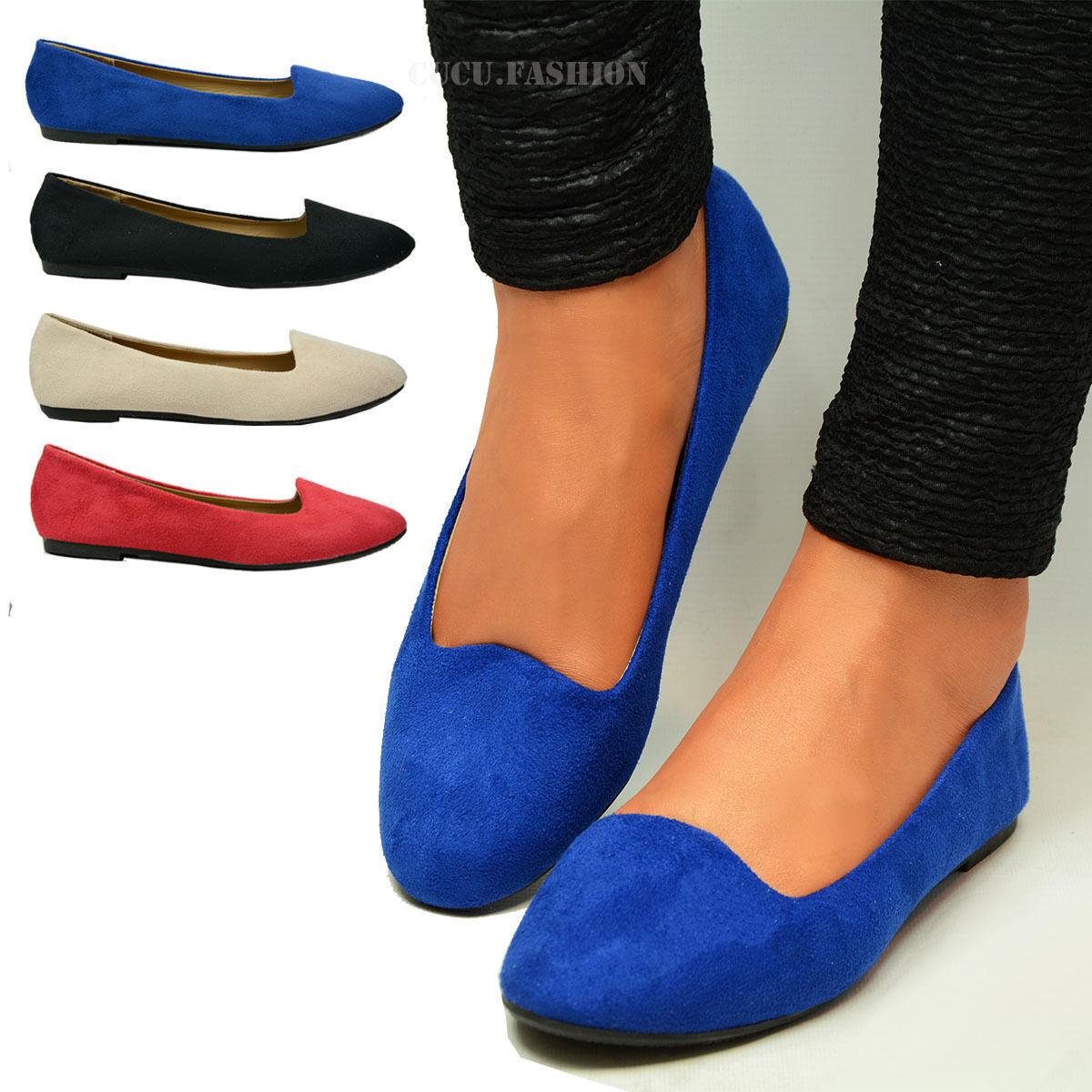 Mujer Negro Plata Azul Flats Loafers Ballerina zapatos Ballet Ladies Dolly Pumps zapatos Ballerina a6bb39
