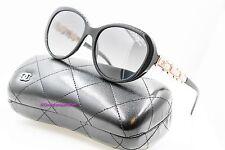 CHANEL 5337HB 1325/S8 Black/Pink Bijou Pearl Polarized Oval Sunglasses NWC AUT