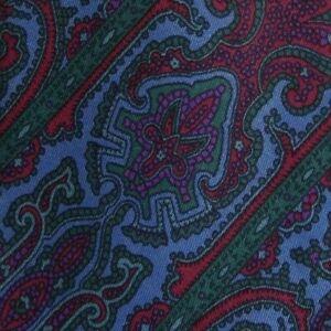Blue-Purple-Paisley-PIERRE-CARDIN-Silk-Tie