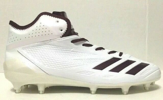 maroon and white adidas football cleats