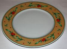 Mitterteich Speiseteller weiß m. orange-grünem Rand u. Mirabellen, Dm 27 cm