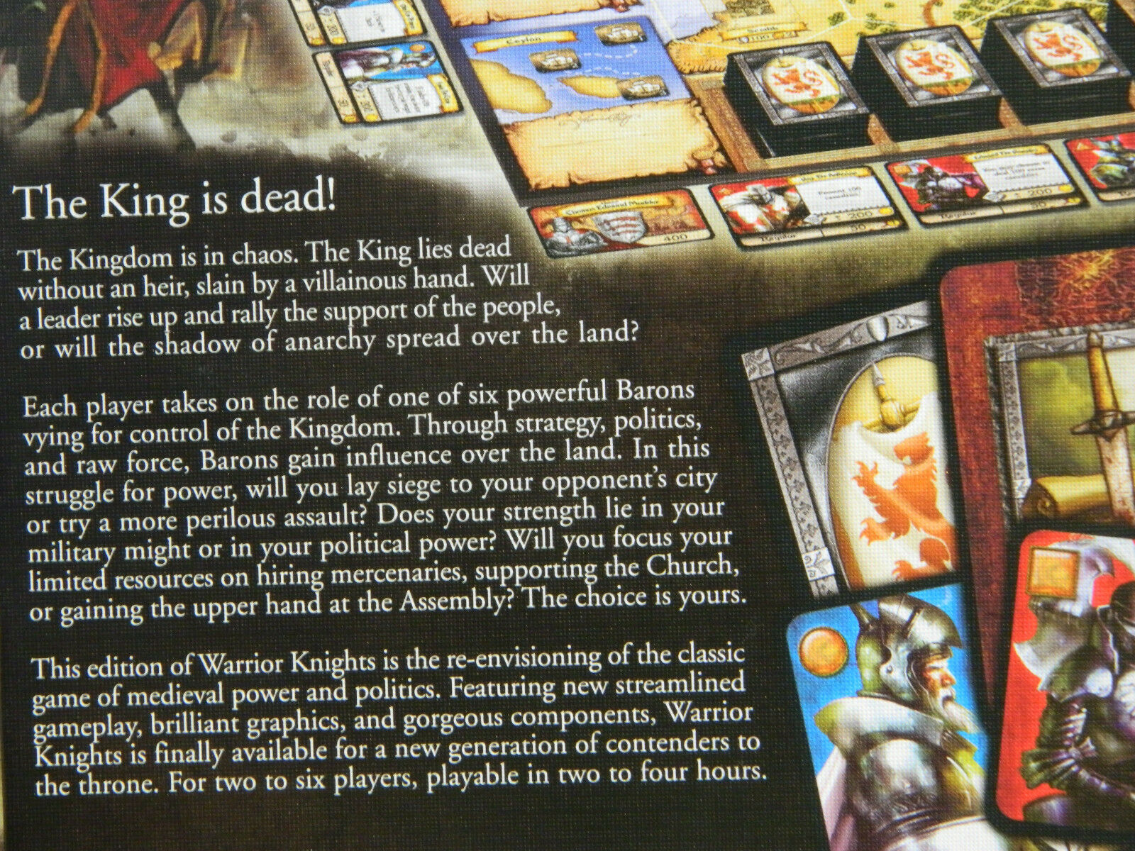 WARRRIOR KNIGHTS BOARD GAME OUT OF OF OF PRINT 42ed06