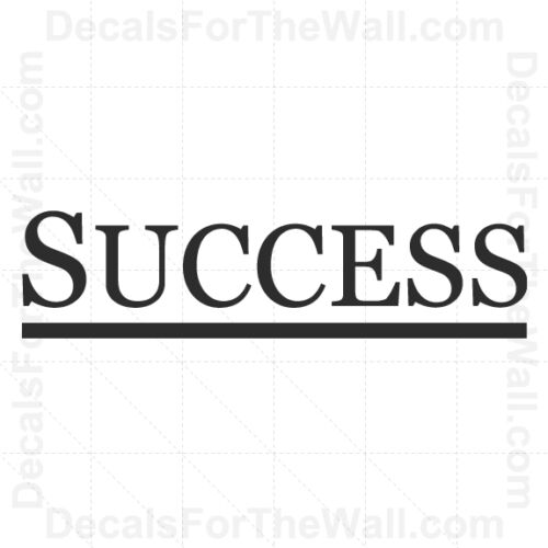Success Inspirational Wall Decal Vinyl Art Sticker Quote Decor Decoration IN26