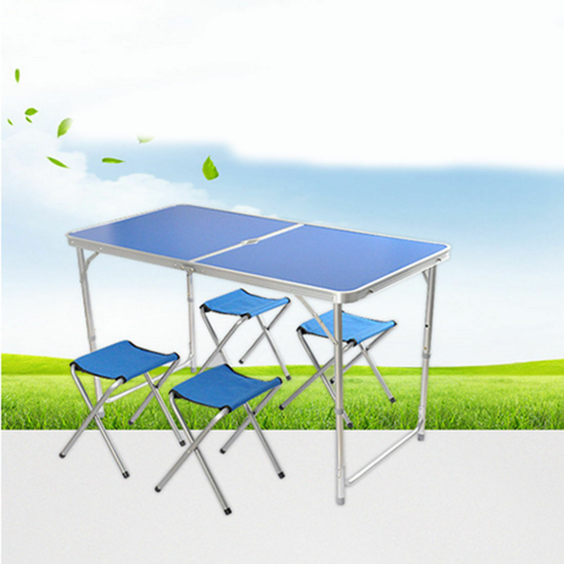 Outdoor folded table aluminium alloy wooden folded table portable picnik table