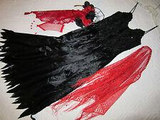 Day of the Dead dress COSTUME size 6 black dia de los muertos unique Mardi Gras