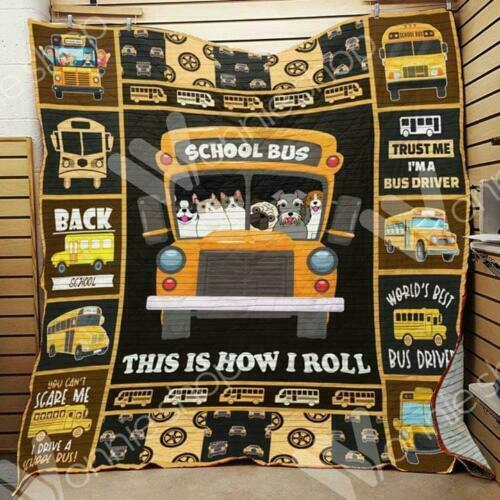50x60 and 60x80 Made In US Dogs /& Cats School Bus This Is Fleece Blanket 30x40