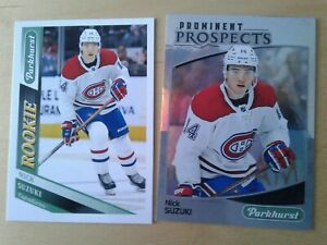 LOT-2-2019-20-Parkhurst-Nick-SUZUKI-rookie-rc-SP-312-amp-Prominent-prospect