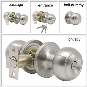Exceptionnel Image Is Loading Brushed Nickel Passage Knobs Privacy Handles Entry Door