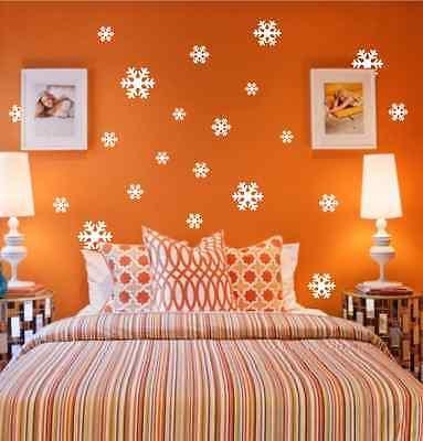 18 X Snowflakes Christmas Decoration wall stickers, wall art, wall graphics UK