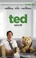 TED ORIGINAL 27x40 MOVIE POSTER (2012) WAHLBERG & KUNIS