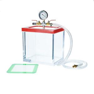 Entgasungskammer-7-39L-Acryl-Vakuumkammer-Harzfalle-Unterdruckpumpe