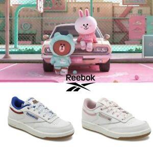 1434e5cd036db Line Friends x Reebok Club C Kids Shoes Athletic White Pink Blue ...