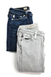Adriano-Goldschmied-Womens-Low-Rise-Skinny-Bootcut-Jeans-Gray-Blue-Size-25-Lot-2